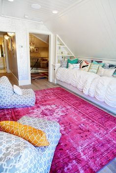 Trendy home decored ideas family room rugs Dream Rooms, Dream Bedroom, Rugs In Living Room, Living Room Decor, Room Rugs, Sleepover Room, Hangout Room, House Of Turquoise, Teen Girl Bedrooms