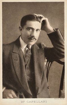 https://flic.kr/p/DZnCaA | Paul Capellani | French postcard by Platinogravure. Photo: Pathé.  Paul Capellani (1877-1960) was a stage and film actor who was active in French and American silent film. He was the younger brother of film director of the silent era Albert Capellani.   For more postcards, a bio and clips check out our blog European Film Star Postcards Already over 3 million views! Or follow us at Tumblr or Pinterest.