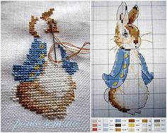 ­Ponto cruz: peter rabbit grafico ponto cruz
