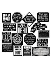 Over The Hill Vinyl Cutouts 16ct 60th Birthday Party50th