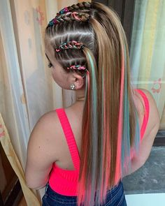 [New] The 10 Best Braid Ideas Today (with Pictures) - Blue baby & dark pink nincsenek szavak! Sporty Hairstyles, Cute Hairstyles For Medium Hair, Fast Hairstyles, Little Girl Hairstyles, Pretty Hairstyles, Medium Hair Styles, Braided Hairstyles, Natural Hair Styles, Long Hair Styles