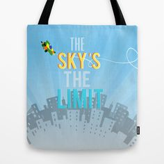 the sky's the limit inspirational airplane decor boys room blue skies city scape