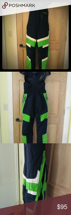Rare Find - Small Women's Arctic Cat Snow Bibs Lime and black Team Arctic women's snowmobile bibs in amazing condition, size small.  Pair with matching small jacket @raindancemama and you'll be the hottest item on your machine!  Bibs have three exterior zipper pockets and one interior snap pocket. Sides of legs zip all the way up to waist line, both directions. Straps adjust, reflective tape throughout, snow liners at ankles... Arctic Cat Other