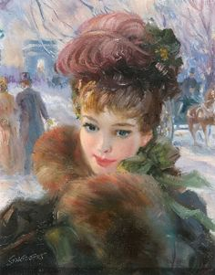 """""""A winter afternoon in the Champs Elysées"""", by John Strevens (British, 1902-1990)"""