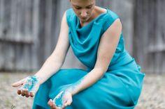 silk dress by DFM HAMBURG