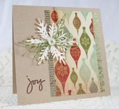 Handmade Greeting Card  Christmas  Joy by EndlessInkHandmade