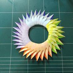 293.조립리스종이접기.오월의장미.리스접기.origami