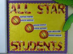 Display hard working students... sports theme