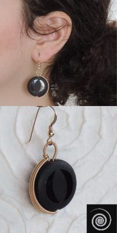 Black onyx earring, classic style csual style glam style anniversary gift birthday gift