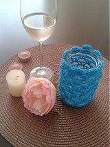 Svietidlá a sviečky - Svietnik ,,Tyrkys´´ - 4105612_