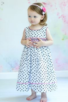 White smocked summer dress perfect for beach portraits.
