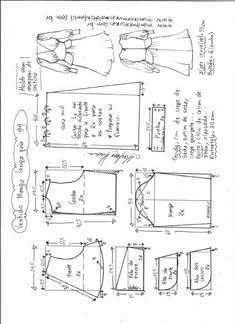 Vestido manga longa midi | DIY - molde, corte e costura - Marlene Mukai