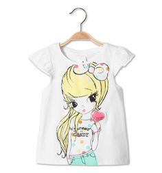 Girls t-shirt - collection C&A Summer Girls, Kids Girls, Polo Outfit, Paint Shirts, T Shirt Painting, Girl Trends, Painted Clothes, Princess Outfits, Design Girl