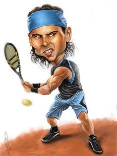Rafa Nadal Caricature  By Carlos Castro ©2012