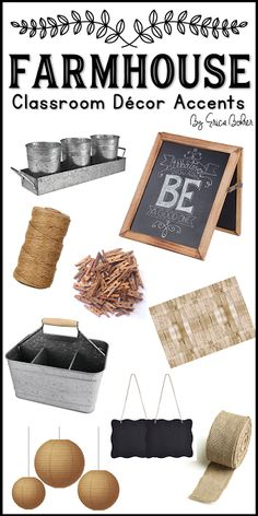 Farmhouse Style Classroom Decor Accents from Amazon...Farmhouse Style Classroom Decor | Erica's Ed-Ventures
