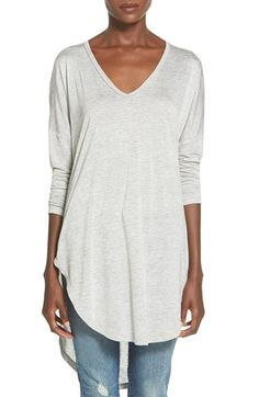 Lush Clothing High/Low Long Sleeve Tee available at #Nordstrom