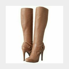 "Jessica Simpson • Avern Platform Dress Boots Sz 6 Brand new in box.  No tags.  Never tried on.  Not my size. Color:  Bourbon Leather upper.  4.25"" heels Fits true to size.  Will ship in the original box. Jessica Simpson Shoes Heeled Boots"