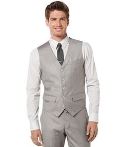 Perry Ellis light gray vest from Macy's