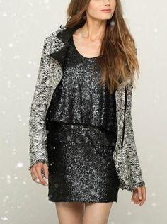Moto Jacket & Sequin Dress