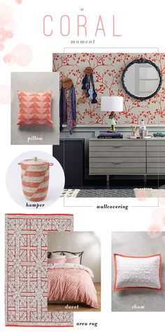 Using coral paint and decor is one of our favorite decorating color trends of the moment. You can use this bright color in bedrooms, living rooms, or bathrooms for a cheery vibe. You'll love this spring and summer color palette in your home all year long.