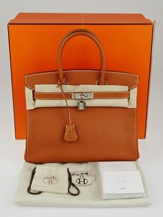 2906a48d43 Hermes 30cm Gold Epsom Leather Palladium Plated Birkin Bag