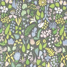 The Herbarium fabric, designed by Swedish world famous artist Stig Lindberg. Printed on an exclusiv linen/cotton fabric, suitable for curtains etcetera.