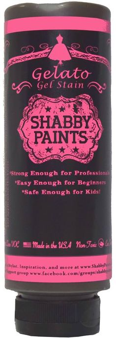 New product...Shabby Paints #gelato Gel Stain. Available in Dark Roast, Dark Chocolate and Dark Cherry. Non-toxic #GelStain #carolescollections