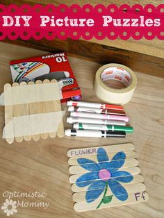 Picture Puzzles - DIY Wooden Puzzles | Optimistic Mommy
