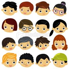 Cute Family members vector Icons (Set 4) Royalty Free Stock Vector Art Illustration