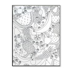 Stupell Fruit Salad DIY Coloring Wall Plaque