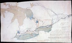 Sketch map of Upper Canada showing the routes Lt. Gov. Simcoe took on journeys between March 1793 and September 1795