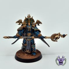 Thousand sons (Tzeentch) - Sorcerer #ChaoticColors #commissionpainting #paintingcommission #painting #miniatures #paintingminiatures #wargaming #Miniaturepainting #Tabletopgames #Wargaming #Scalemodel #Miniatures #art #creative #photooftheday #hobby #paintingwarhammer #Warhammerpainting #warhammer #wh #gamesworkshop #gw #Warhammer40k #Warhammer40000 #Wh40k #40K #chaos #warhammerchaos #warhammer40k #tzeentch #thousandsons #Sorcerer Thousand Sons, War Hammer, Warhammer 40k Miniatures, Warhammer 40000, Space Marine, Marines, Change, Artwork, Painting