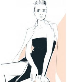 "One of ""Love x Style x Life""'s illustrations by Garance Doré"