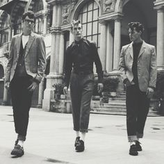 Teddy boys-- late 40's and 50's- Think this has to be my favourite fashion sense for men from this time!!