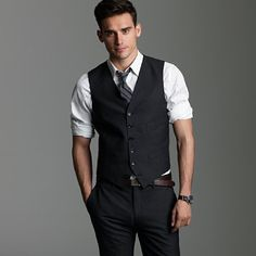 For the groomsmen. Vested Interest in Incorporating the Vest wedding menswear