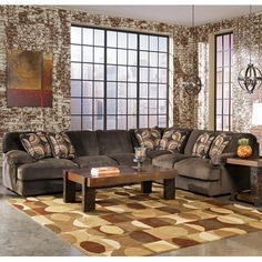 Signature Design by Ashley Truscotti - Cafe Contemporary 3-Piece Sectional with Sofa and Love Seat - Del Sol Furniture - Sofa Sectional Phoenix, Glendale, Tempe, Scottsdale, Arizona