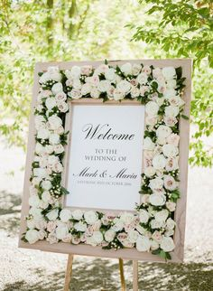 PLANNING: ROQUE EVENTS SIGNAGE: LAURA LAMBRIX DESIGNS FLORAL: MAE FLOWERS #WeddingPlanner
