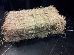 Theatre Projects: Stage Hay Bale- add handle and use for the one three little pig suitcase