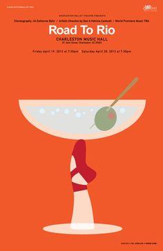 Gil Shuler Graphic Design: Charleston Ballet Theatre Posters