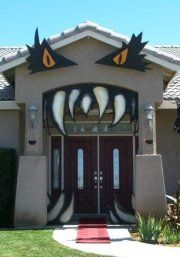 easy monster house halloween entrance to spook up the front of your home for trick or treaters with how to decorate your house for halloween outside