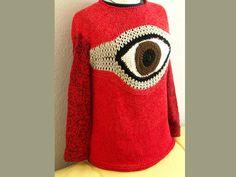 Pullover & Pullunder - Pullover mit Auge - ein Designerstück von Simone_ef bei DaWanda