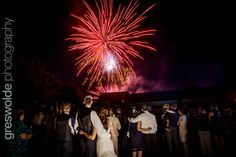 fireworks at the wedding at Alrewas Hayes