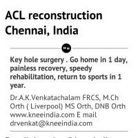 Infographic: ACL reconstruction in Chennai, India