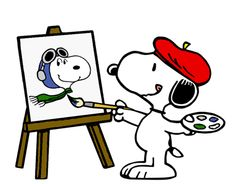 Snoopy and his self-portrait
