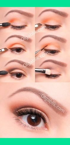 very cool look! i'd never try orange eyeshadow before I saw this!!