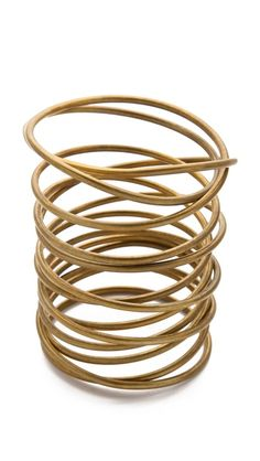 Seriously lusting over this... Kelly Wearstler Twisted Brass Bracelet