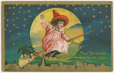 Vintage Halloween: Haunted Postcards from the 1910s.  For those of you who really really want to go authentic and vintage for Halloween.  A Lovely collection of postcards.