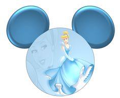 Imprimibles de Princesas Disney en silueta de Mickey.