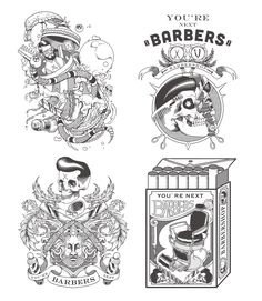 YOU'RE NEXT BARBERSHOP on Behance