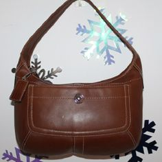 NWOT Coach Ergo Brown Leather Hobo . Starting at $30 on Tophatter.com!